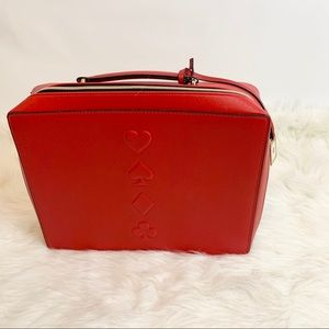 Estee Lauder Red Deck of Cards  Cosmetic Case